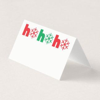 Flocos de neve do cartão | do lugar do comensal de