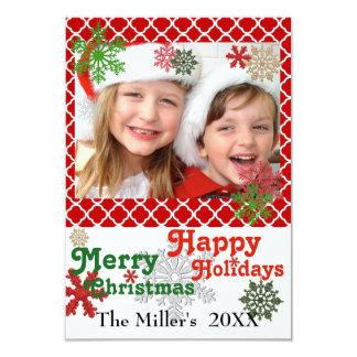 flocos de neve do Feliz Natal 3x5 boas festas Convite 8.89 X 12.7cm