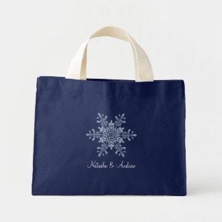 Flocos de neve do inverno que Wedding a sacola da  Sacola Tote Mini