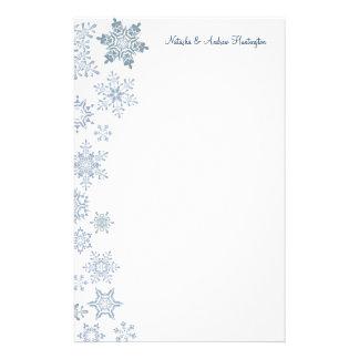Flocos de neve do inverno que Wedding o obrigado Papelaria