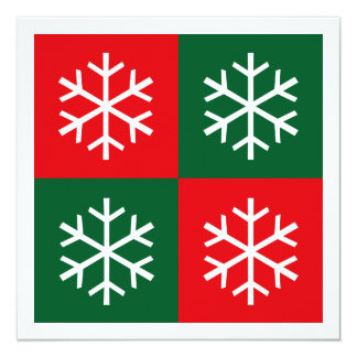 Flocos de neve do pop art convite personalizados