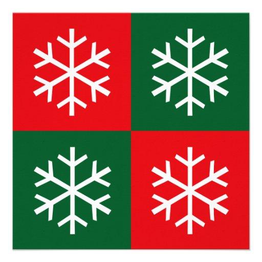 Flocos de neve do pop art convites personalizados
