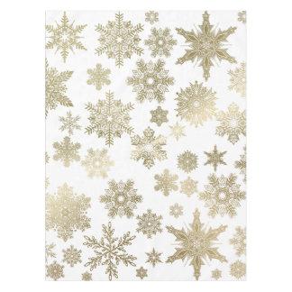Flocos de neve dourados toalha de mesa