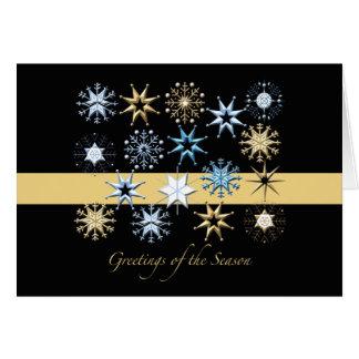 Flocos de neve (preto) dobrados - cartão do