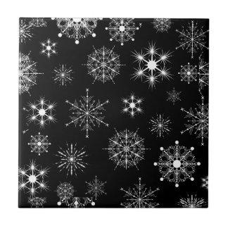 Flocos de neve pretos & branco Assorted do Natal