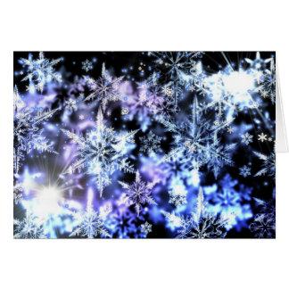 Flocos de neve Sparkling Cartao