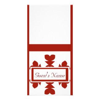 Flocos de neve vermelhos cartão com foto