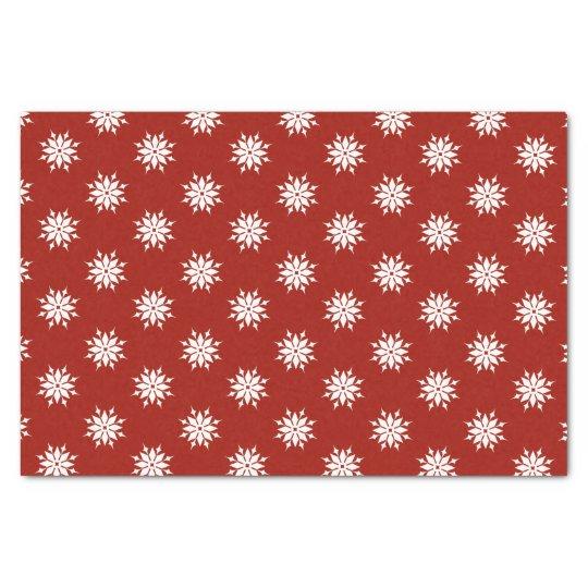 Flocos de neve vermelhos do branco do Natal Papel De Seda