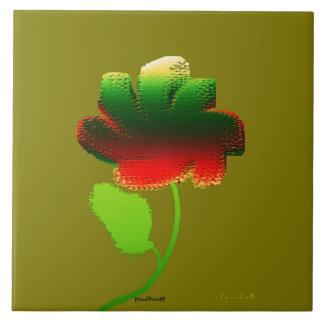 Flor 3 de Digitas Azulejo Quadrado Grande