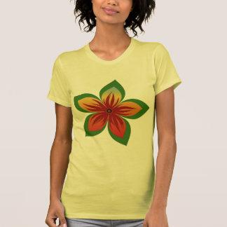 Flor abstrata camiseta
