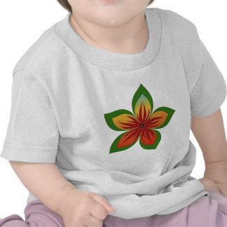 Flor abstrata t-shirts
