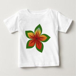 Flor abstrata camiseta para bebê