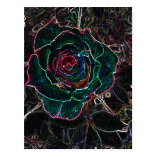 Flor abstrata cartao postal