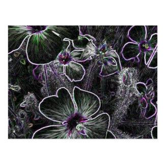 Flor abstrata cartão postal