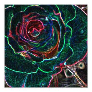 Flor abstrata convite