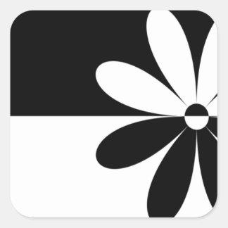 Flor abstrata não que diferente adesivos quadrados