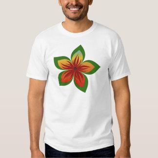 Flor abstrata tshirts