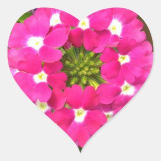 Flor Adesivo Coração