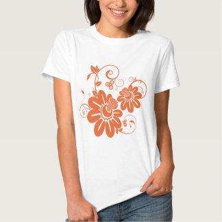 Flor alaranjada camiseta