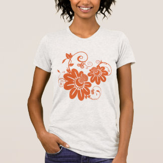 Flor alaranjada t-shirt