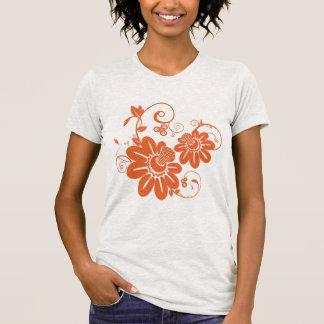 Flor alaranjada camisetas