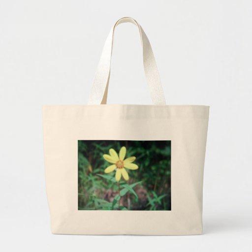 flor amarela bolsa de lona