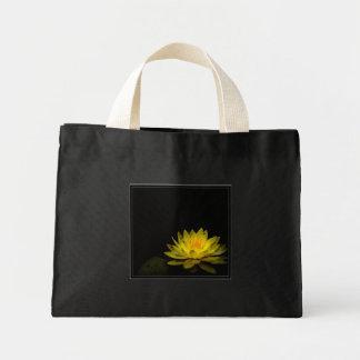 Flor amarela sacola tote mini