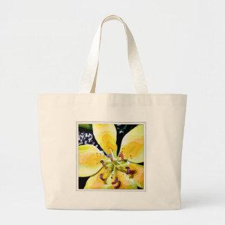 Flor amarela bolsa para compras