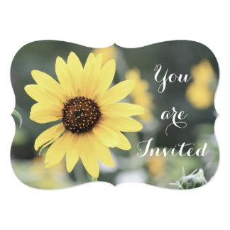 Flor amarela convite personalizado