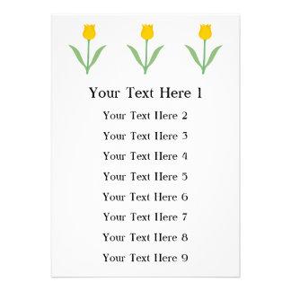 Flor amarela da tulipa