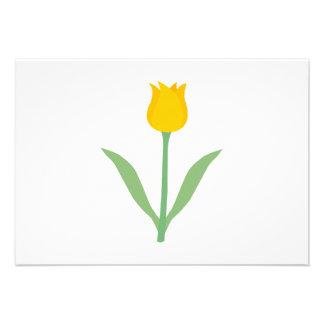 Flor amarela da tulipa convites