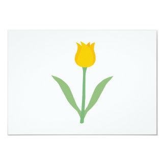 Flor amarela da tulipa convite 8.89 x 12.7cm