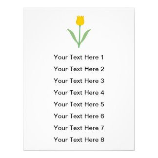 Flor amarela da tulipa convites personalizado