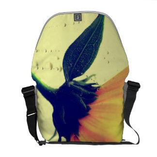 Flor amarela saco desenho bolsas mensageiro