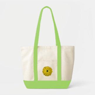Flor amarela sacola tote impulse