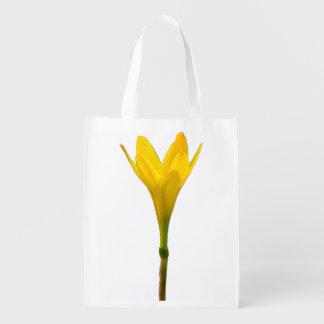 Flor amarela sacola ecológica para supermercado