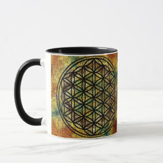 Flor antiga da caneca sagrado da geometria da vida