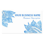 Flor artística de Lotus azul no branco Cartão De Visita