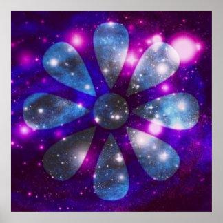 Flor astral Sparkling Poster