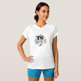 Flor ativa do TG da camisa do Dri das mulheres do