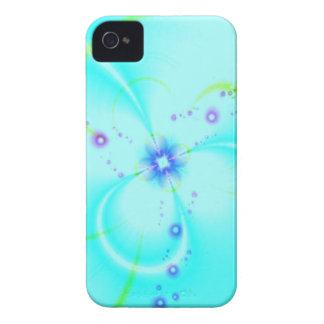 Flor azul bonito capas para iPhone 4 Case-Mate