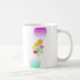Flor bonita caneca de café