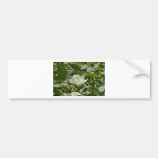 Flor branca da colheita do algodão adesivo para carro