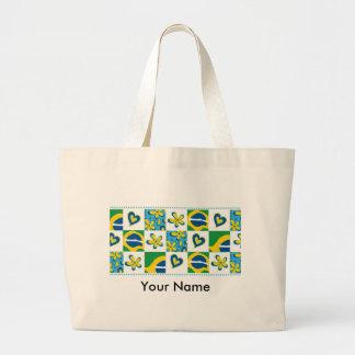 Flor_Brasil Bolsa Para Compras