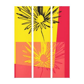 Flor c.1982 da margarida - canvas das belas artes