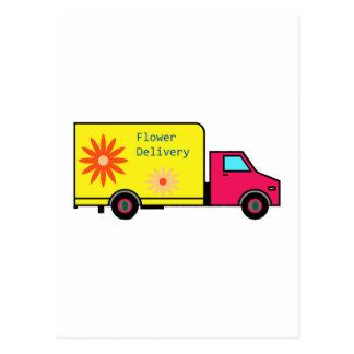 Flor-Caminhão Cartão Postal