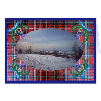 """""""Flor cartão do modelo da foto de Scotland"""""""