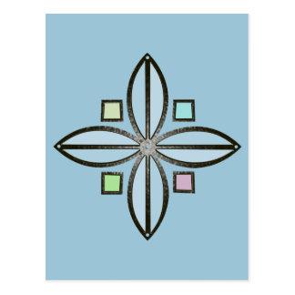 flor celta da boa fortuna do ferro da cor da cartão postal