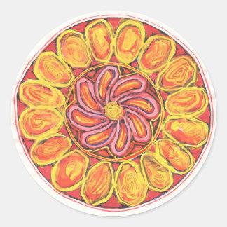 Flor celta - etiqueta abstrata