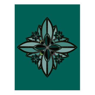 flor celta II da boa fortuna do ferro da cor da Cartão Postal
